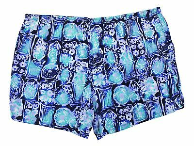 VTG 90s SIDEOUT Men's SWIM TRUNKS Blue WILD STYLE SWIMSUIT Abstract Lined