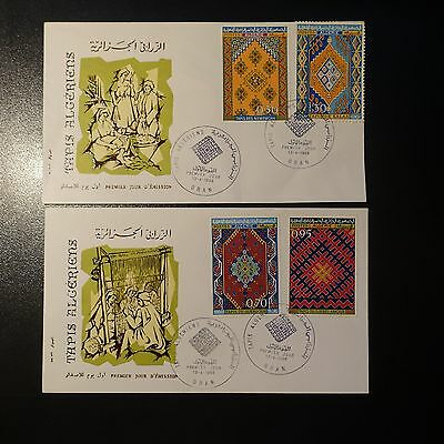 ALGERIA N°463/466 ON LETTER COVER 1st DAY FDC
