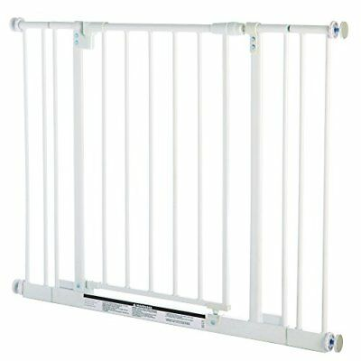 """OPENED BOX Supergate Easy Close Gate,  Fits Spaces 28"""" to 38.5"""" Wide & 29""""high"""