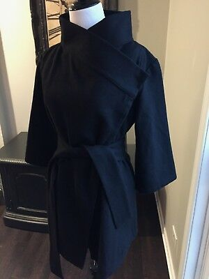 Isabella Oliver - Wrap Belted Tie Black Coat Jacket - Maternity Size Small