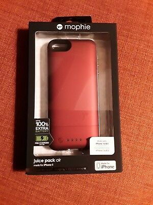 MOPHIE Juice Pack Air in RED for iPhone 5,5s,and SE with free ship to Cont US