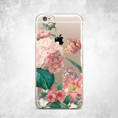 Floral Retro Flower Soft Silicone TPU Rubber Case iPhone 6s 7 8 Plus Xs Max XR