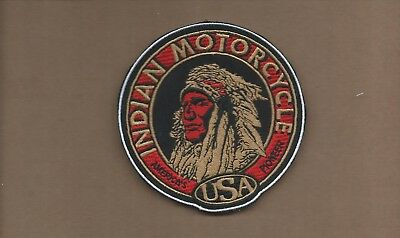 New 4 Inch Indian Motorcycle Iron On Patch Free Shipping