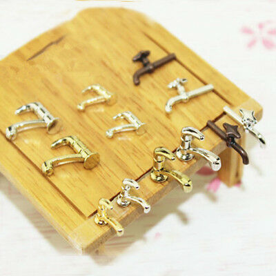 2X 1:12 Miniature Alloy Metal Water Tap Toy Dollhouse  DIY Furniture Accessories