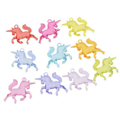 10Pcs Charms Mixed Unicorn Pendants Resin  DIY Necklace Bracelet Jewelry Making