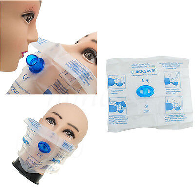 2pcs CPR Resuscitation Mouth Respirator Face Shield Mask With One Way Valve