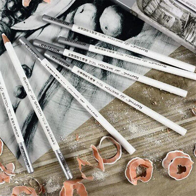 1/4/12pcs White Pastel Charcoal Drawing Sketch Pencil Art Artist Craft Kids Gift