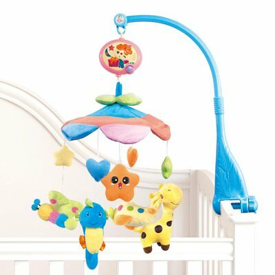 NextX Flash B201 Baby Bedding Crib Musical Mobile with Hanging Rotating Soft