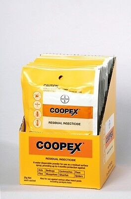 Coopex Residual Insect Killer25gm x 10pks  Powder Lasts 4mnths Insects Flies Ant