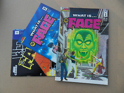 What Is ... The Face 1 - 3 . Steve Ditko In All . Ace Comics 1986 . VF - minus