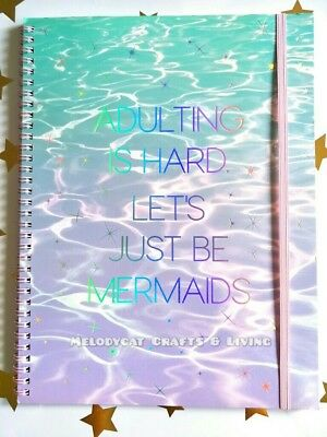 NEW! Typo A4 Spinout Notebook Journal 120 Pages, Let's Be Mermaids