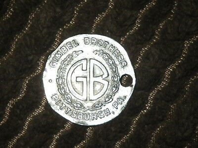 vintage Gimbel Brothers Gimbels Department Store Charge COIN Fob  PITTSBURGH