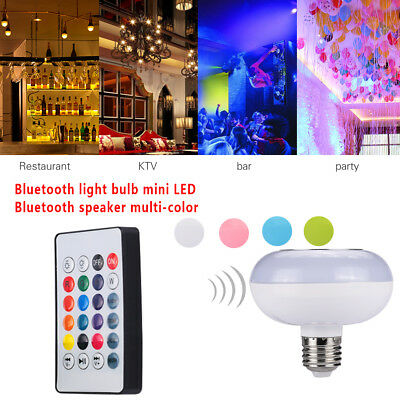 Light Bulb Music Lamp Mini 12W LED Play Music Amplifier Colorful