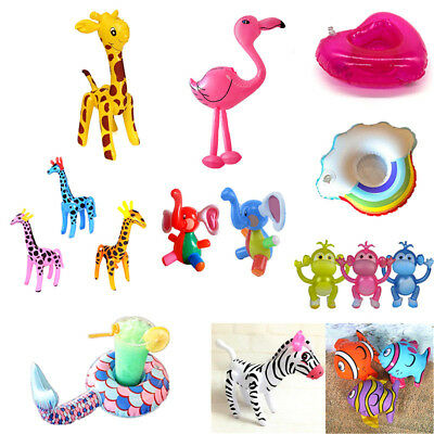 Various Inflatable Animal Zoo Floating Holder Swimming Pool Beach Inflatable Toy
