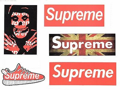Sticker bombing Aufkleber Supreme Logo Skate Boarding Vinyl Long Board