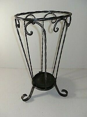 Umbrella Holder for Umbrellas Iron with Base Oval Ideale for Entrance