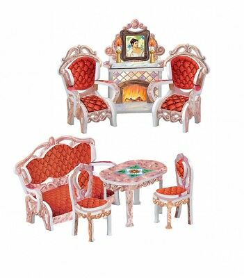 Drawing Room and Home Decor Dollhouse Furniture Dolls Cardboard Model Kit (090)