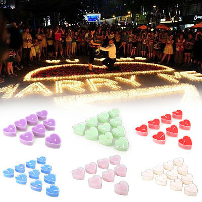 10pcs heart shape wax candle festival Valentine'S Day Decor party supplies color