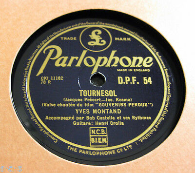 Nice Price: Yves Montand - Tournesol / Compagnons Des Mauvias Jours PARLOPHONE