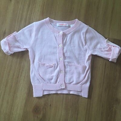 Country Road Baby Girls Sz 00 Pink Cardigan