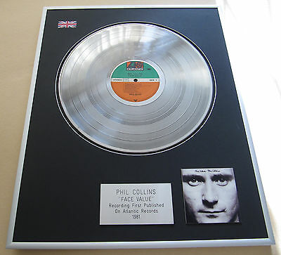 PHIL COLLINS Face Value LP Platinum Presentation Disc