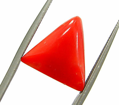 5.42 Ct Certified Natural Red Coral Loose Gemstone Triangle Stone - 130517