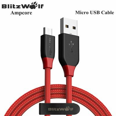 BlitzWolf Ampcore BW-MC Braided 2.4A Micro USB Charging Data Cable 1m/1.8m/2.5m