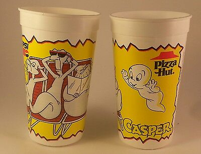 Pizza Hut Pepsi Casper the Friendly Ghost Large  Cup 1995 Fatso Stinkie Stretch