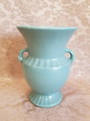 Monmouth/Western Stoneware USA American Pottery Blue/Green Floor Vase
