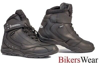 Richa SLICK - Black Everyday Motorcycle casual look Boots + FREE SOCKS QZ