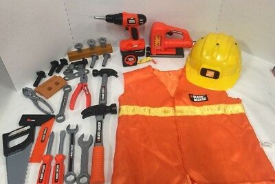 Black & Decker Home Depot Kids Play Tools Lot ~ Toy Workshop Power Tools Pretend