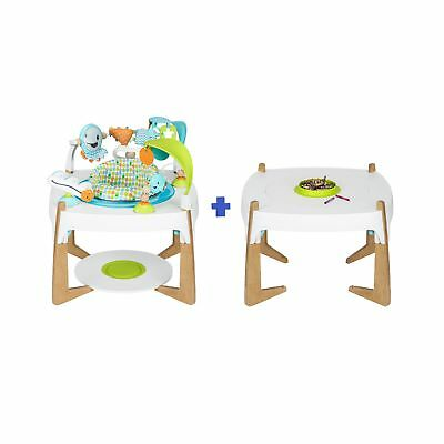 Evenflo ExerSaucer 2-in-1 Activity Center and Art Table, Gleeful Sea