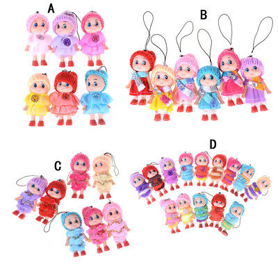 2PCS Kids Toys Soft Interactive Baby Dolls Toy Mini Doll For Girls and Boys 2F