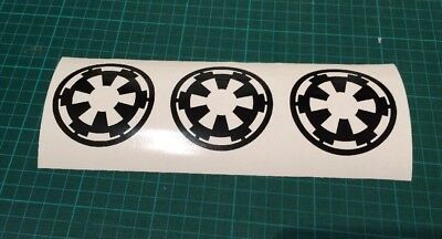 Star Wars Imperial Empire Logo  Sticker x3 Laptop Van Decal all colours