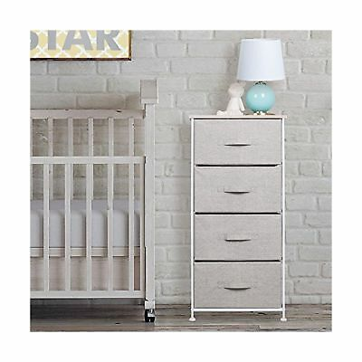 mDesign Fabric Baby 4-Drawer Dresser and Storage Organizer Unit for Nursery, ...