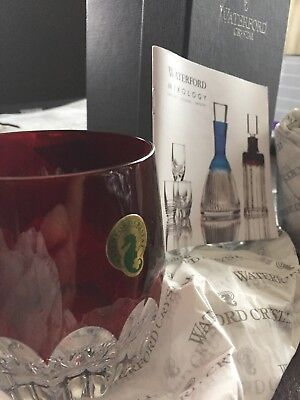 Waterford MIXOLOGY Talon Red SET/2 Tumbler/Double Old Fashioned Glass 160459 New