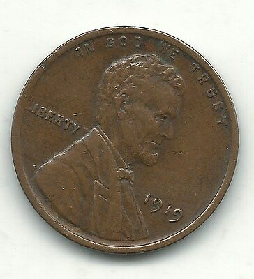 A Extra Fine  Xf 1919 P Lincoln Cent Coin-Old Us Coin-Oct209