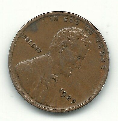 A Extra Fine 1927 P Lincoln Cent Coin-Old Us Coin-Oct208