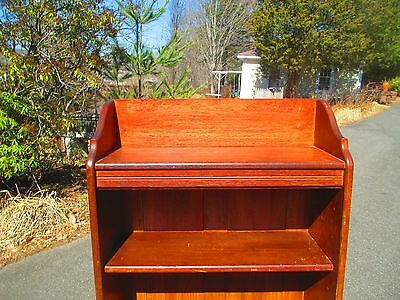 """OAK narrow BOOKCASE 25-1/2"""" Bookshelf open front  DELIVERY AVAILABLE see below"""