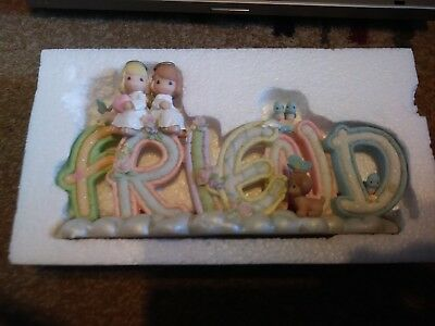 PRECIOUS MOMENTS Word Sign With Angels Friend Alphabet Letters 108238
