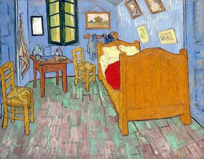 The Bedroom Painting by Vincent van Gogh Art Reproduction