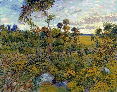 Sunset at Montmajour Painting by Vincent van Gogh Art Reproduction