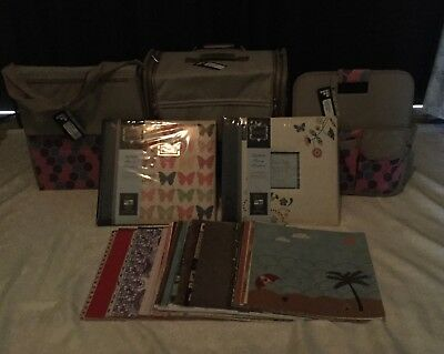 Francheville HoneyComb Scrapbooking trolley set Albums &12x12 assorted papers #1