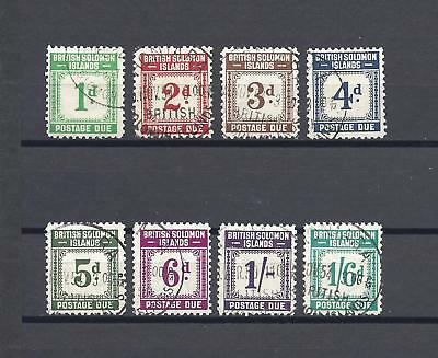 BRITISH SOLOMON ISLANDS 1940 SG D1/8 USED Cat £130
