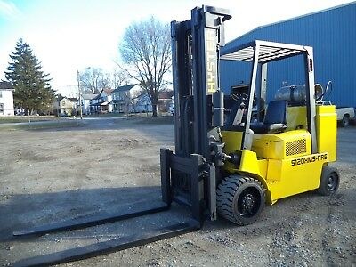2003 Hyster S120XMS-PRS, 12,000#, 12000# Cushion Tired Forklift, Short WB, LPG