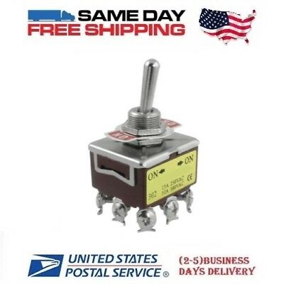 TPST ~ Triple 3 Pole Single Throw 3PST 9-Pin (ON-ON) 15a Toggle Switch