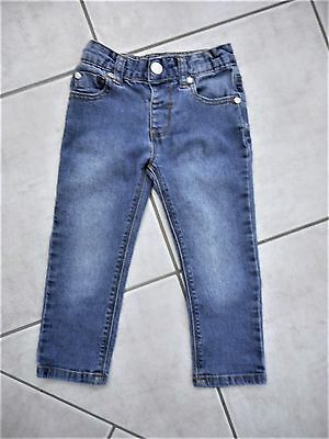 Adjustable Size 2 baby boys girls unisex blue stressed jeans classic 5 pocket