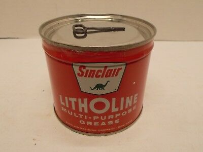 "Vintage SINCLAIR ""Litholine"" Multi-Purpose Grease Can - NOS (c)"