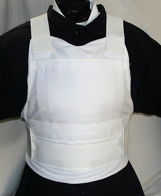 New Medium Concealable Carrier IIIA Body Armor BulletProof Vest with Inserts