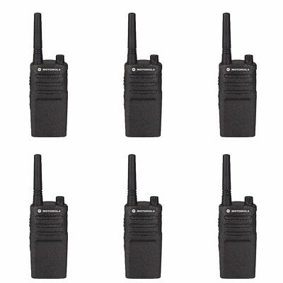 6 Motorola RMM2050 VHF MURS Business Two-way Radios